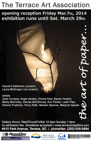 paper art show poster